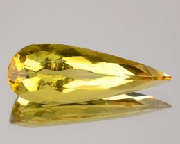 2.92 Cts Natural Golden Yellow Beryl Pear Cut Brazil Gem