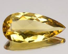4.30 Cts Natural Golden Yellow Beryl Pear Cut Brazil Gem