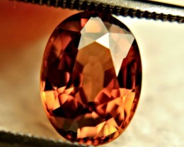 3.16 Carat VVS1 Southeast Asian Orange Zircon - Superb