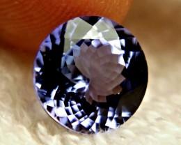 GIA CERTIFIED - 3.55 Carat IF/VVS1 Purple / Blue Round Cut Tanzanite