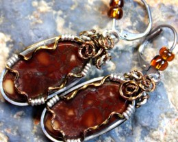 49.5 CTS   JASPER PAIR WIRE WRAPPED HAND MADE G5285