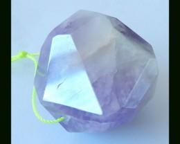 Polygonal Amethyst Pendant Bead,196.95 Cts