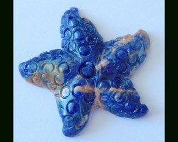 Handmade African Sodalite Starfish Carving Bead,22 Cts