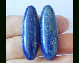 81.85 Cts Natural Lapis Lazuli Oval Earring Beads(18031521)