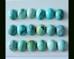 Free Shipping ,Holiday Gift ,18 PCS Natural Turquoise Cabochons,Precious Tu