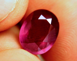 6.74 Carat Fiery Purplish Red Ruby - Superb