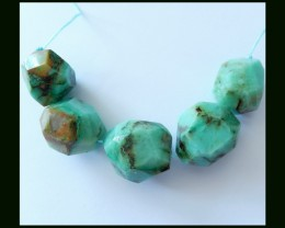 Facet Chrysocolla Beads Strands For Gemstone Necklace,208.5 Cts