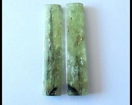 Natural Green Kyanite Earring Beads Pair.37 Cts
