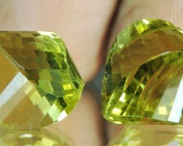 25.10 Cts Natural Lemon Yellow Quartz Brazil Set For Jewellry