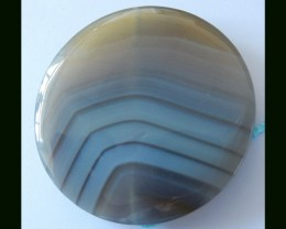 Natural Agate Round Pendant Beads,186.5 Cts