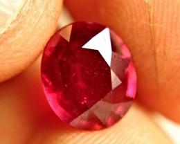 4.04 Carat Fiery Pigeon Blood Ruby - Superb