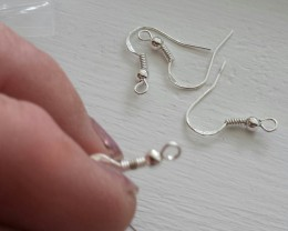 THIS LISTINGS IS FOR 'FOUR'  925 STERLING SILVER COILED EARRING FINDINGS