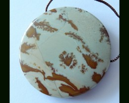 91.5 Cts Natural Owyhee Jasper Round Pendant Bead