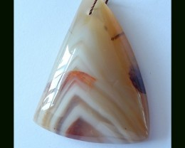 84.5 Cts Natural Agate Pendant Bead