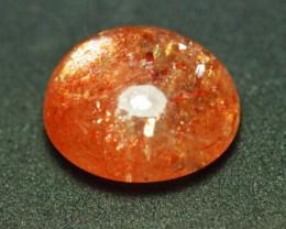 Sunstone oval orange gold cabochon AAA 9.40ct