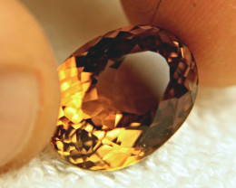 13.77 Carat Golden Brown South American VVS1 Topaz