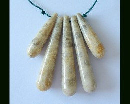 Natural Coral Beads Cluster Pendant Necklace Beads