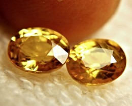 3.46 Tcw. Matched Golden Yellow VS Sapphires