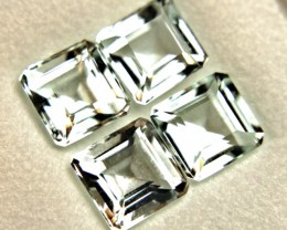 3.99 Carat VVS/VS Aquamarines - 4 Pcs. - Lovely Stones
