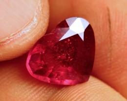 5.19 Carat Fiery Ruby Heart - Lovely