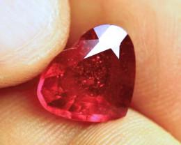 5.19 Carat Fiery Ruby Heart - Lovely