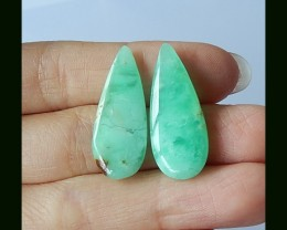 Natural Verdurous Chrysoprase Earring Beads,14 Cts