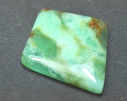 Chrysoprase green diamond square kite shape cabochon from Australia