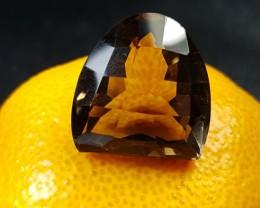 22mm Smokey quartz designer cut 44.5ct 22 by 21 by 15mm