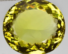 40+ Cts Natural Lemon Yellow Quartz Cushion Cut Brazil Gem NR