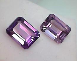 4.25ct 2 Piece Emerald Cut Purple Amethyst VVS - THV26