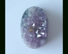 72.85 Cts Nugget Amethyst Oval Cabochon With Nugget Surface