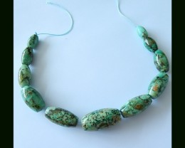451 Cts Natural  Chrysocolla Beads Strands Heavy Necklace Beads
