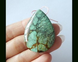 58 Cts Natural teardrop Turquoise Gemstone Bead