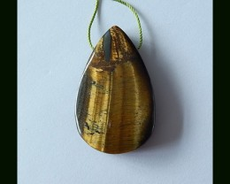 Teardrop Gold Tiger Eye Pendant Bead,60.5 Cts
