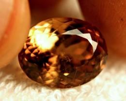 13.6 Carat VS Golden Brown Brazilian Topaz - Gorgeous