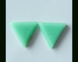 27.5 Cts Natural Triangle Cabochons Pair