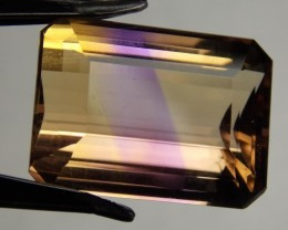 21.97ct Perfect Amertrine Emerald Cut