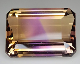 21.97ct Perfect Ametrine Emerald Cut