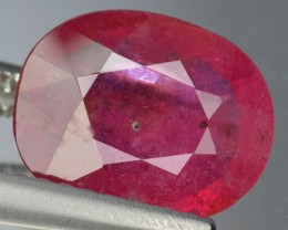2.42 Cts Natural Pinkish Red Ruby Oval Cut Mozambique Gem