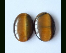 41.5 Cts Natural Gold Tiger Eye Cabochon Pair