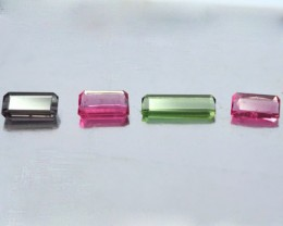 8.02 Cts Natural Multi Colour Tourmaline Octagon Parcel