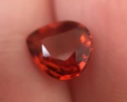A Pear cut Orange Spessartite Garnet - lovely color