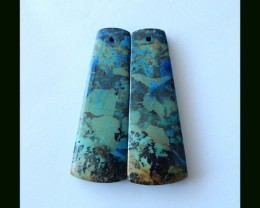 47 Cts  Hot Sale Natural Chrysocolla Earring Beads