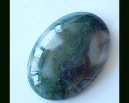 46.5 CTS Natural Moss Agate Cabochon
