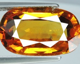 PRIVATE AUCTION CERTIFIED'6.14 CTS EXCEPTIONAL NATURAL ORANGESH YELLOW SAPP