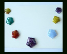 Amethyst,Red Jasper,Chrysocolla,Yellow Opal,Blue Lace Agate Gemstone Caboch