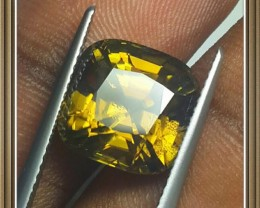 private auction 9.70 CTS EXTREME CUSHION NATURAL GREENISH YELLOW ZIRCON
