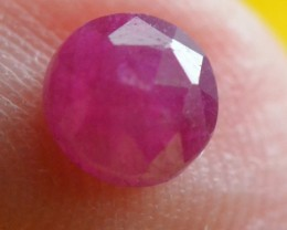 4mm Ruby rose cut gemstone