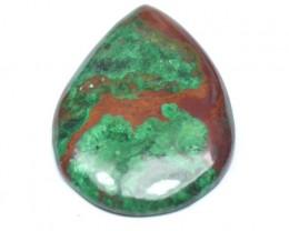 55mm Green Chrysocolla drop pear heart cabochon 100ct