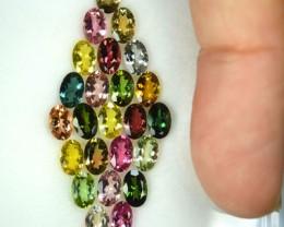 10.00 Cts Jewellery Set Amzaing Multi Tourmaline 24 Pcs Set Mozambique